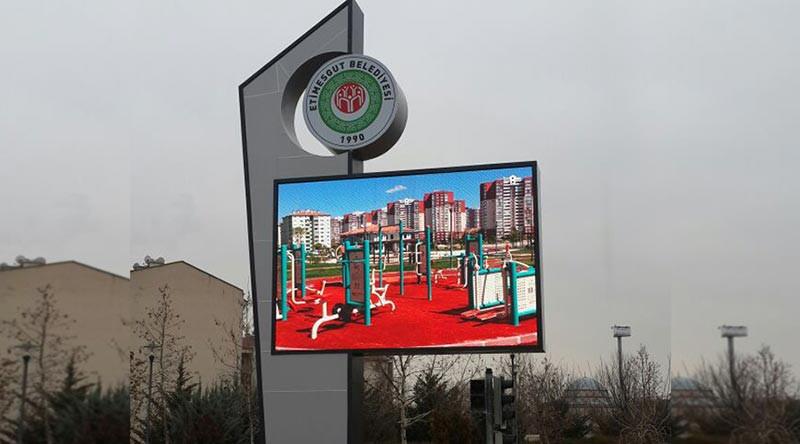 Màn hình quảng cáo bằng đèn led trong khu vực nội đô