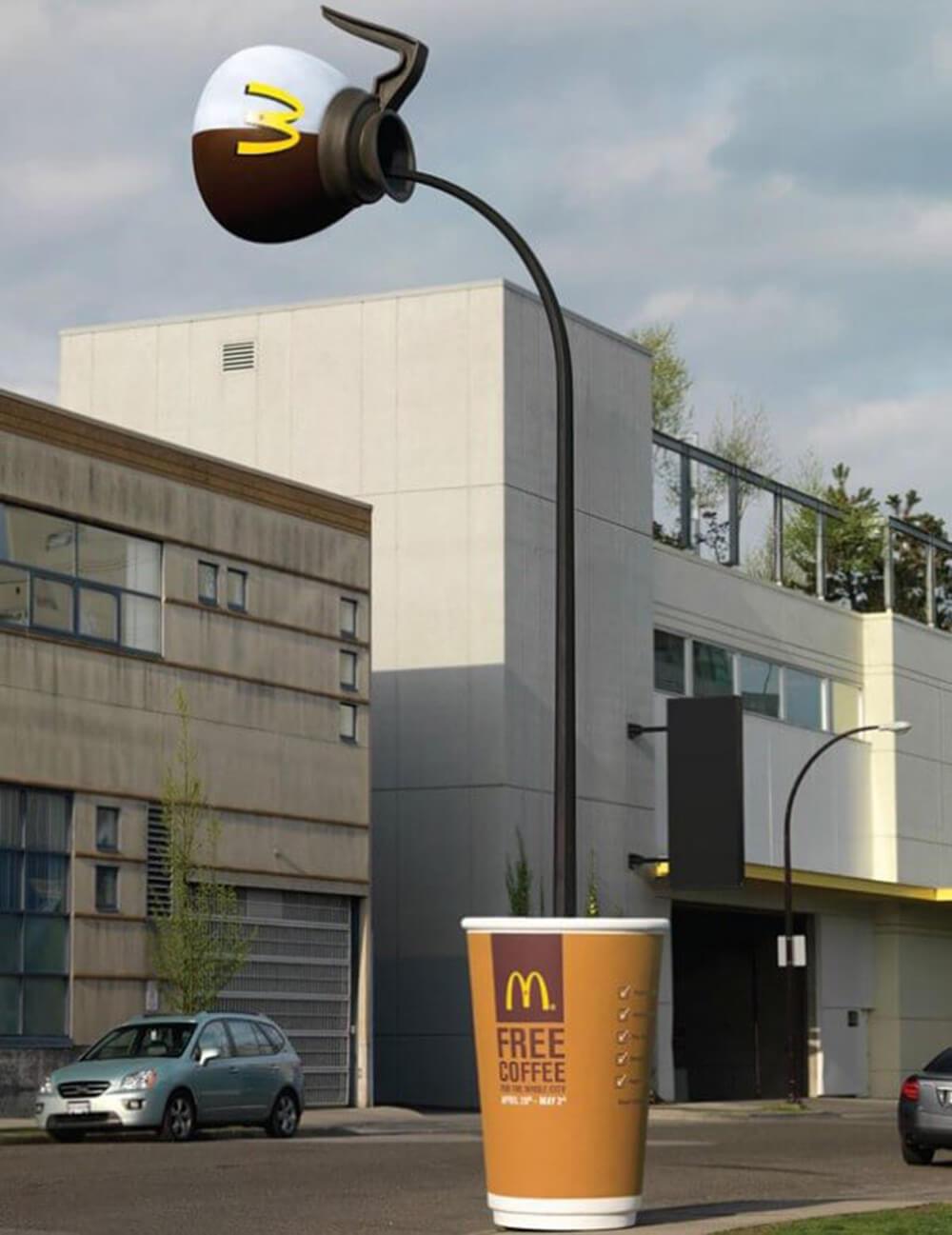 quảng cáo ngoài trời cafe