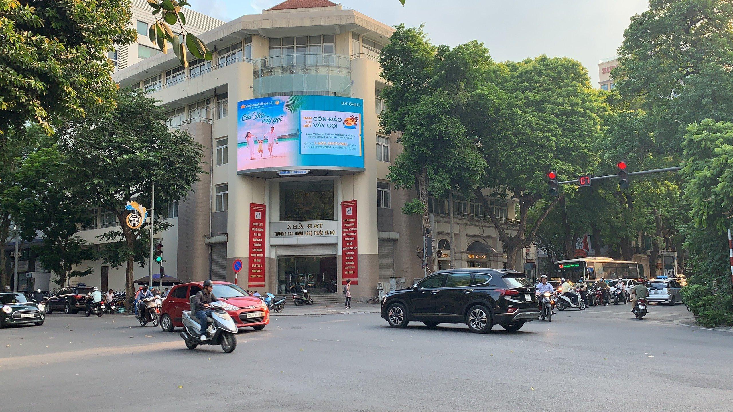 quảng cáo màn hình led ngoài trời tại hà nội nút giao Phan Chu Trinh - Hai Bà Trưng