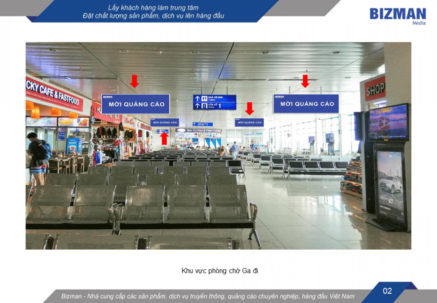 quảng cáo hộp đèn tại sân bay Phú Bài