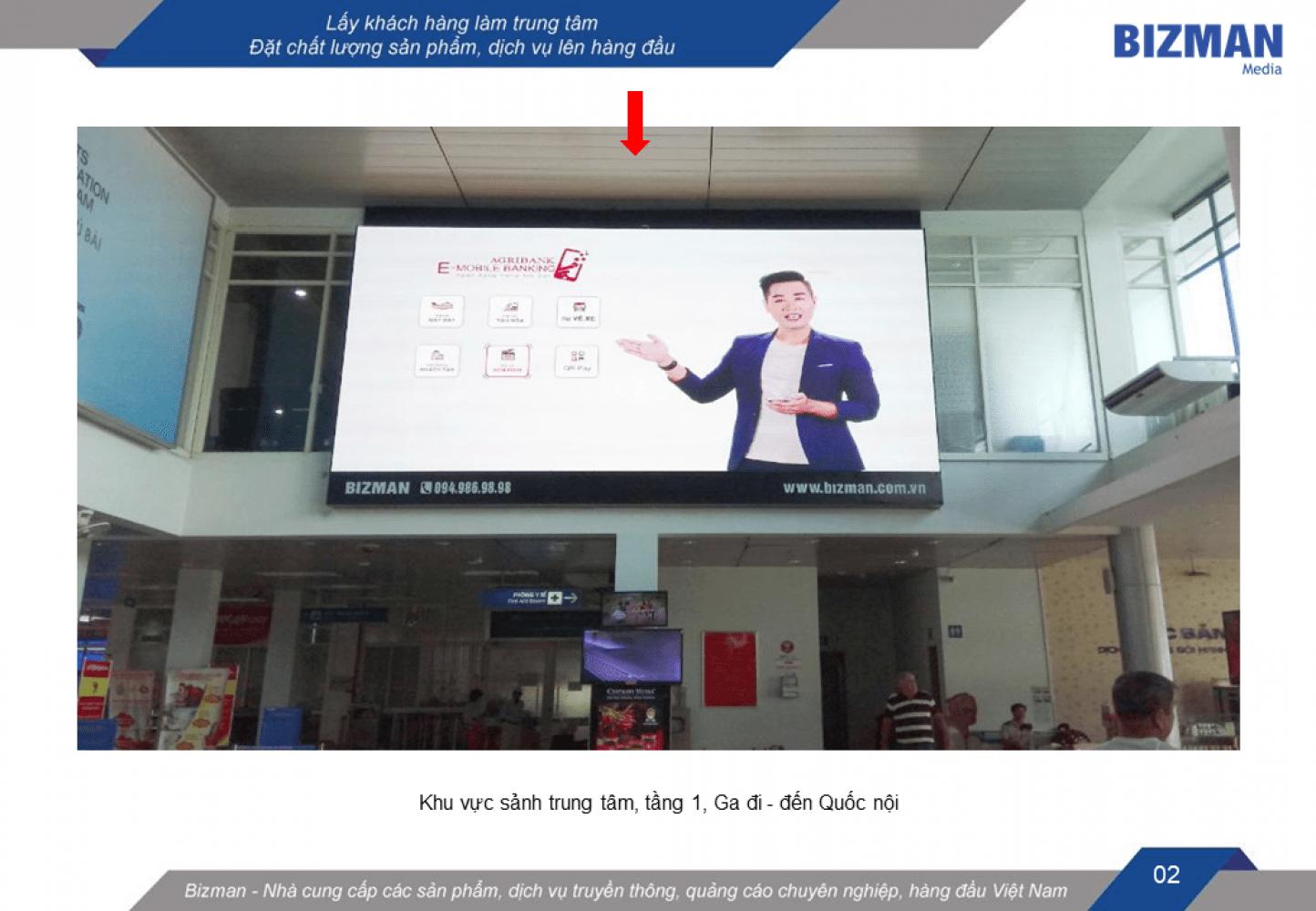 quảng cáo màn hình led sân bay Phú Bài