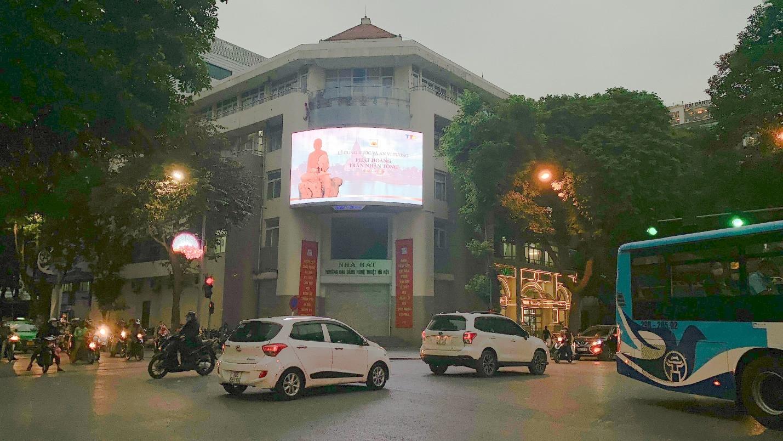 Quảng cáo thương hiệu thông qua màn hình led tại Ngã tư Thái Hà - Chùa Bộc Hà Nội