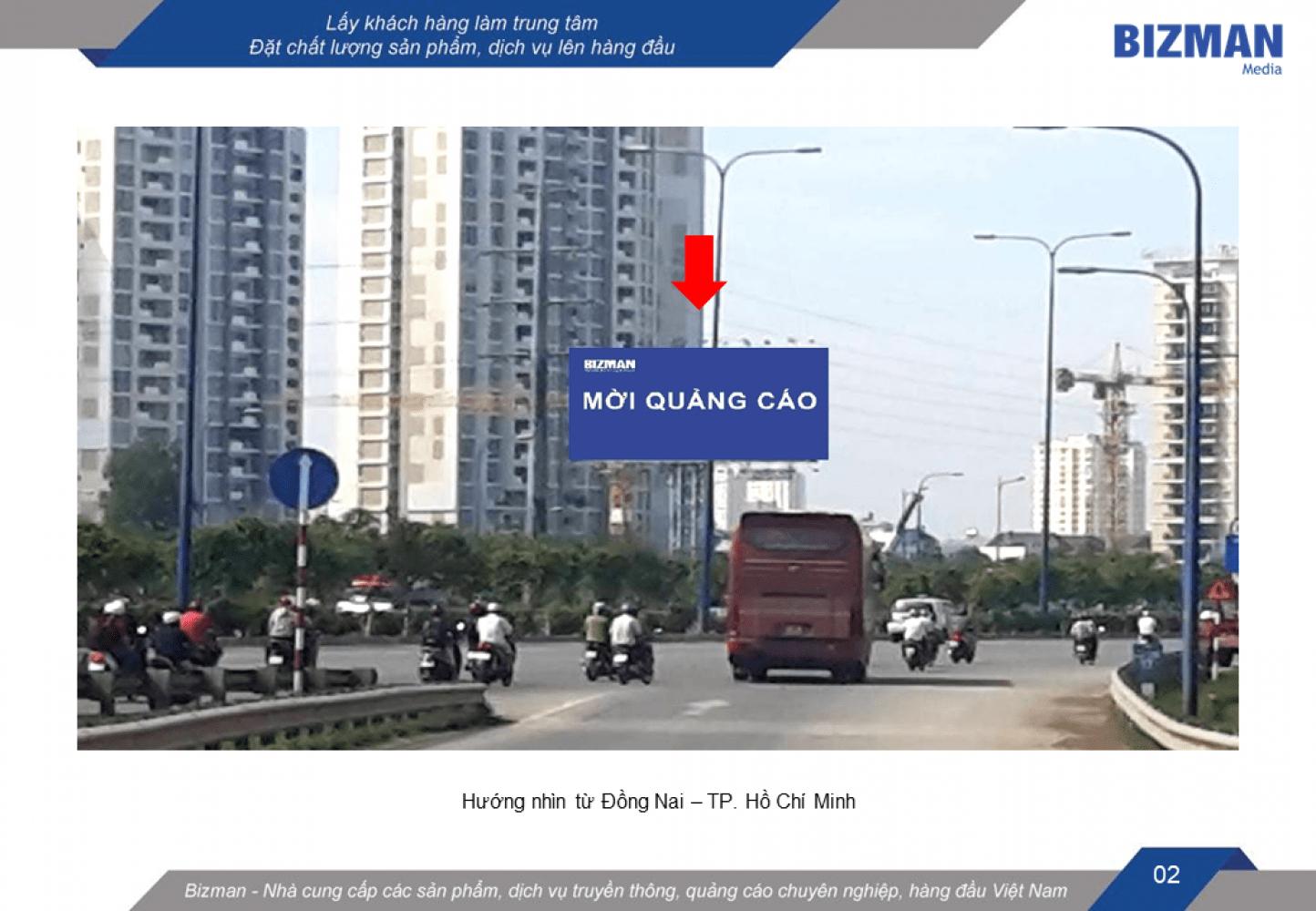 Bảng quảng cáo nút giao Cát Lái - Xa lộ Hà Nội